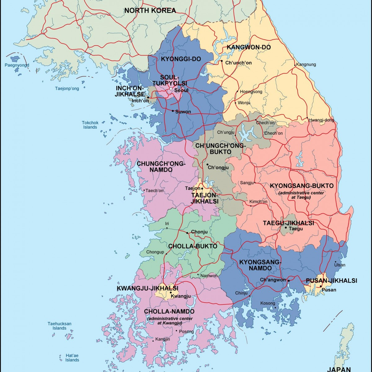 Similiar country south korea keywords south korea political map illustrator eps city country gumiabroncs Images